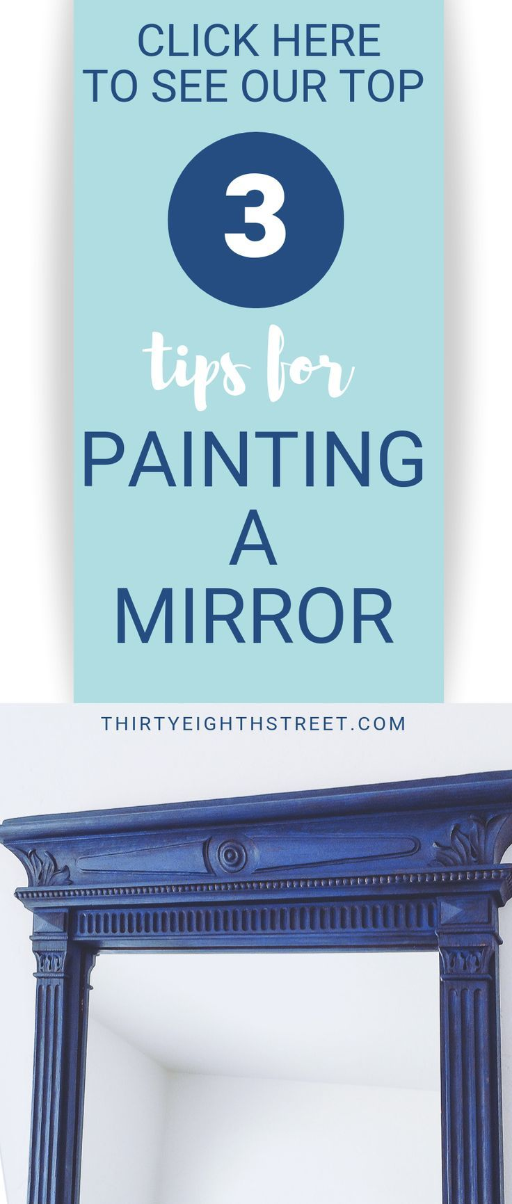 5 Tips For Layering Paint That Will Get You Excited Mirror Frame Diy Hand Painted Mirrors Mirror Painting