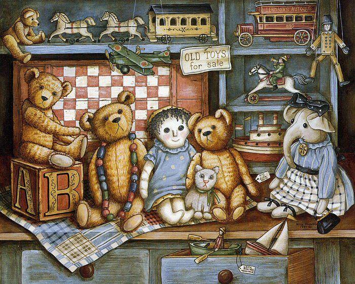 Teddys & Toys by Nita Showers - Teddy Bear Wallpapers   - Precious Teddys & Toys  -  Vintage Teddy Bear ,  Gorgeous Teddies From Nita Showers 1