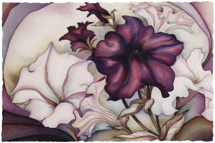 Bergsma Gallery Press::Paintings::Floral::Petunia Garden - Prints