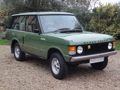 Classic Range Rover. Can you get more of a British icon?