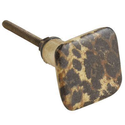 Leopard Print Knob for bathroom!