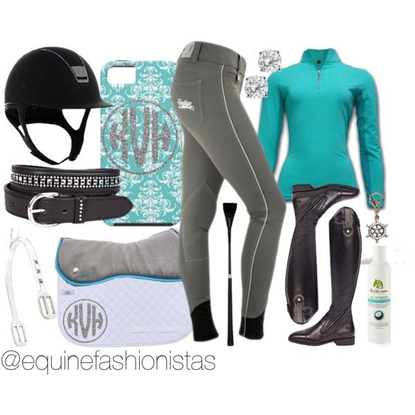 """""""Teal & Crystal"""" by ashlyn-pease on Polyvore Check out @equinefashionistas on instagram to find out where you can get these products!"""
