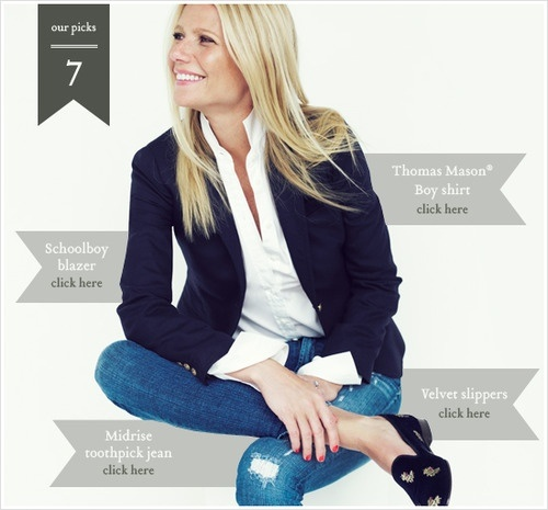 adore Gwyneth Paltrow in her new J.Crew ads: Gwyneth Paltrow, Navy Blazers, Style, Clothing, J Crew, White Shirts, Outfit, Fall Fashion, Jcrew