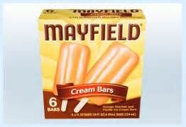 mayfield ice cream cream bars, or Orangesicles.