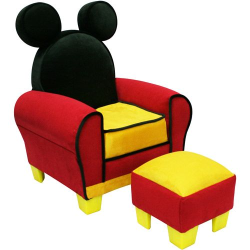 Disney Mickey Mouse Toddler Chair and Ottoman Set