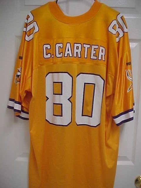 CHRIS CARTER 80 Minnesota Vikings Gold Nylon Vintage Football Jersey 2XL  Puma  Puma  MinnesotaVikings f1e71365e