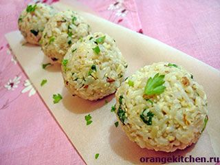 Веганские (постные) шарики из риса