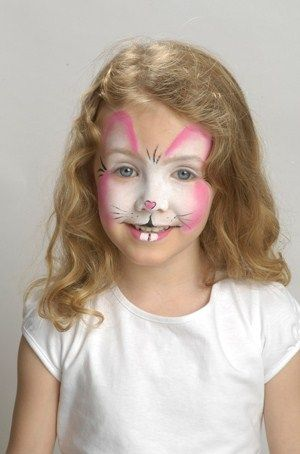 Face paint - bunny rabbit step-by-step guide. Follow these simple instructions to create your child's very own Easter rabbit face paint