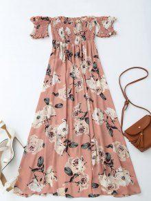 Vestido de raso con flores