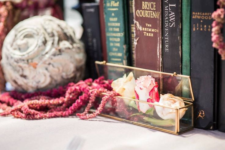 Kitchen Tea / Table Centrepiece / Rustic / Floral Arangement / Books  Venue // The Grounds Of Alexandria Styling & Floral Design // Mary Mitry  Photography // G6K Photography Cakes // Trovatino Cafe