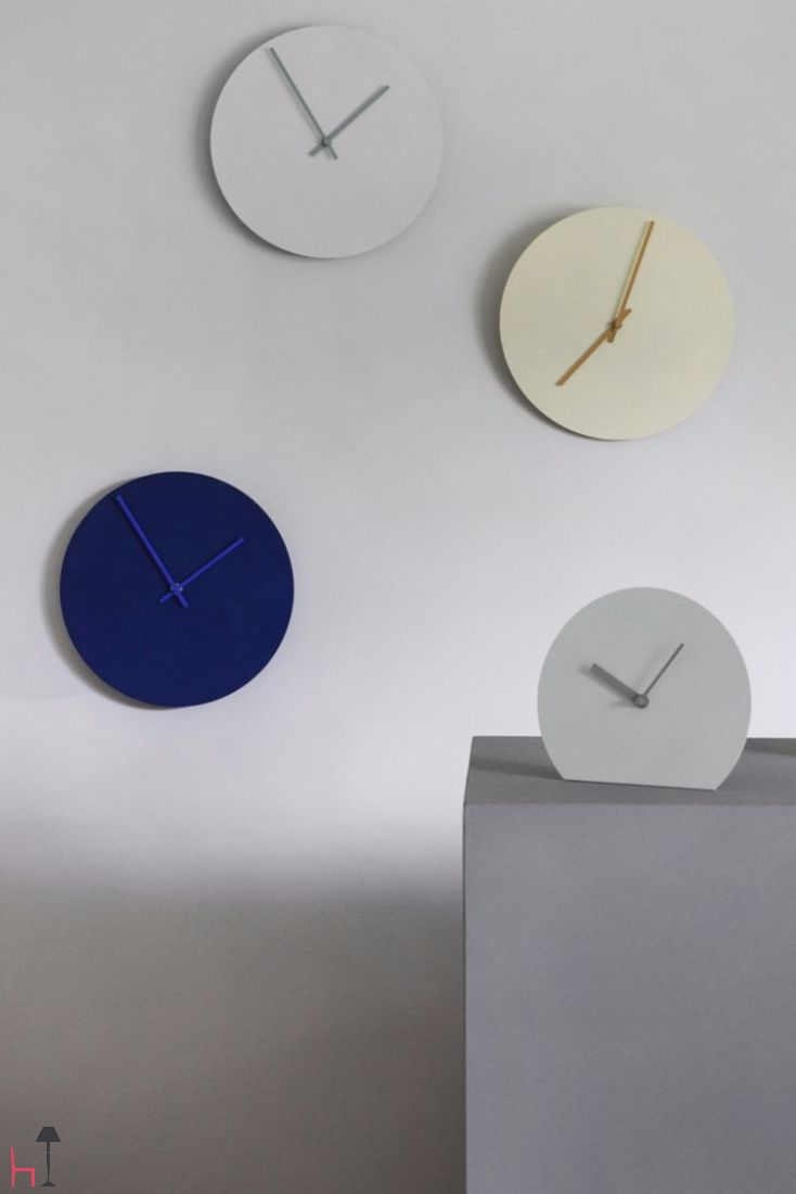 Norm Steel Stand Clock is a light and simplistic clock with steel hands designed by the Copenhagen-based simplicity lovers at Norm Architects.