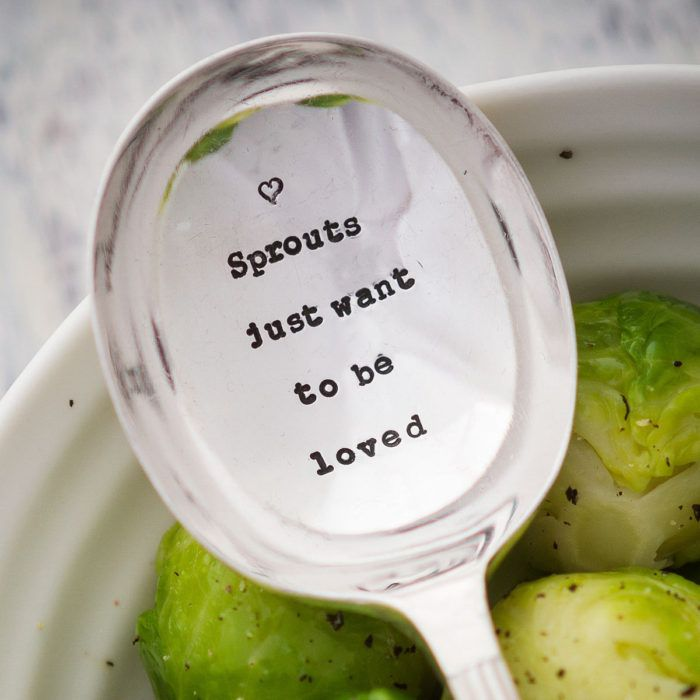 Personalised Serving Spoon – 'Sprouts Just Want To Be Loved'