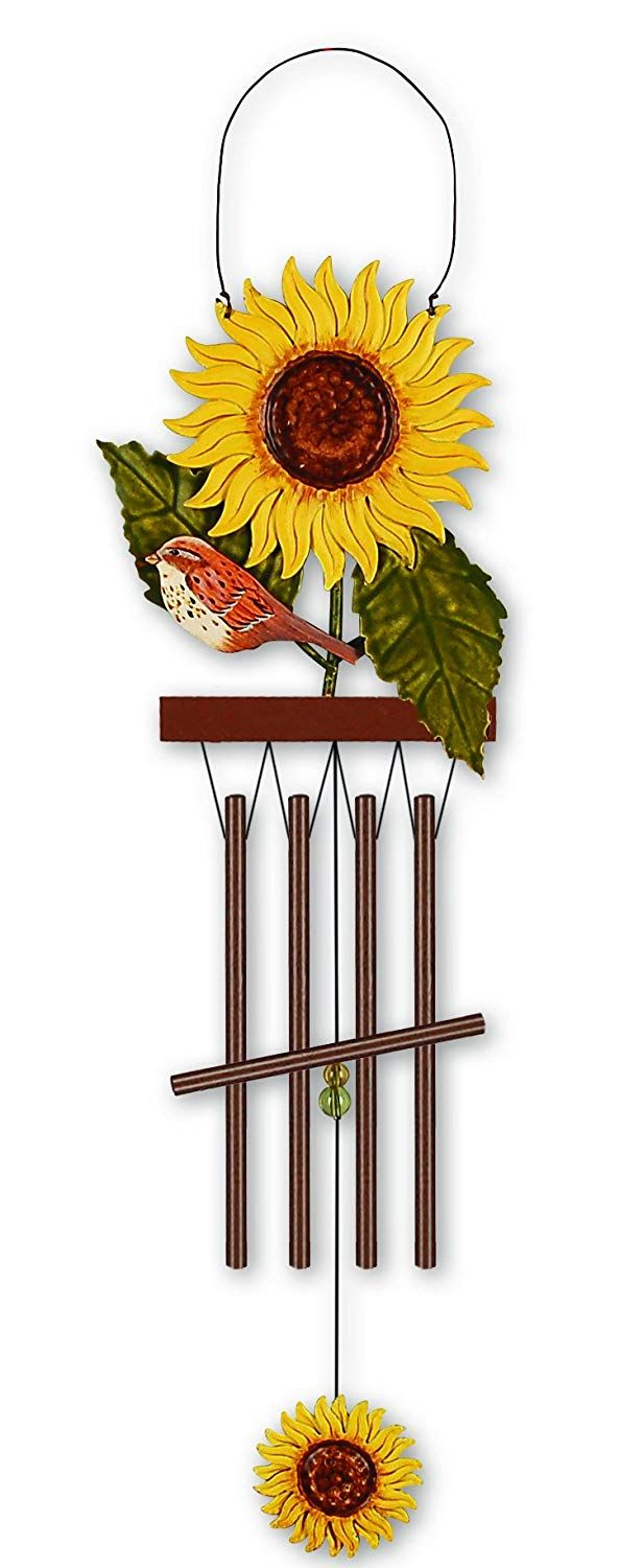 Amazon.com : Sunset Vista Birds Of A Feather Sunflower Wind Chime