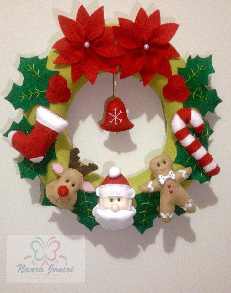 Christimas ornament in felt by Naara Janeri - Artes em Tecidos [Cute as a Button]