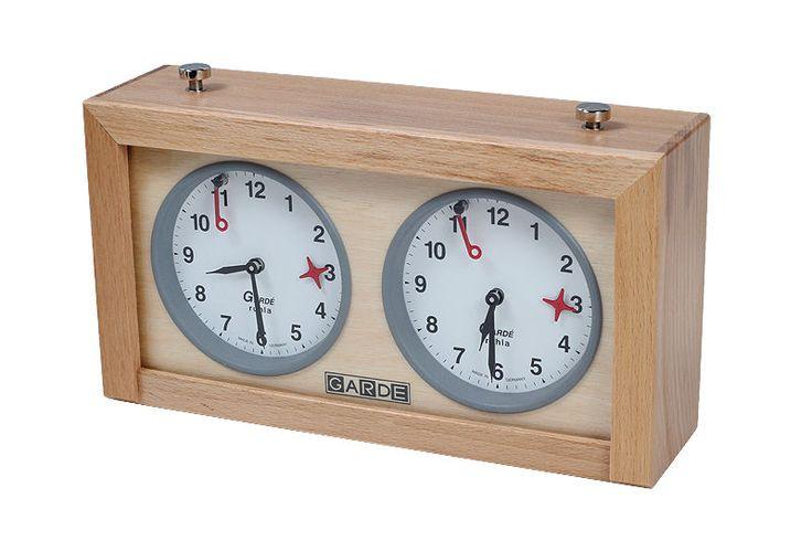 Wood GARDE Analog Chess Clock - Timer - Schachuhr. Orologio per scacchi #chess #garde #chesscom #dgt #uscf #ajedrez