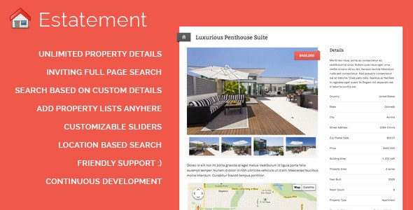 Estatement - Powerful Real Estate Management - ThemeForest Item for Sale