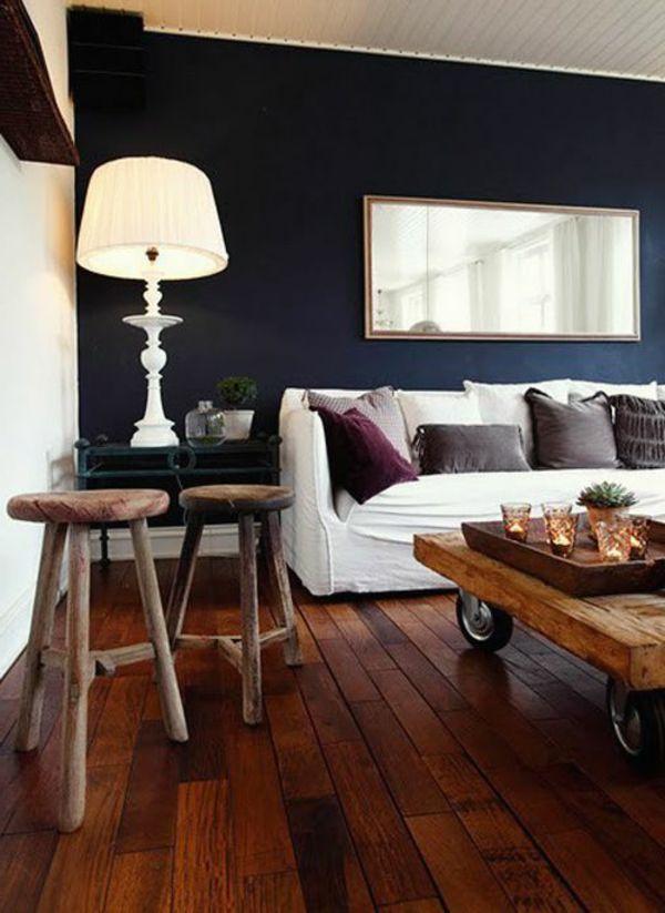 Wände Streichen Farbideen Holzmöbel