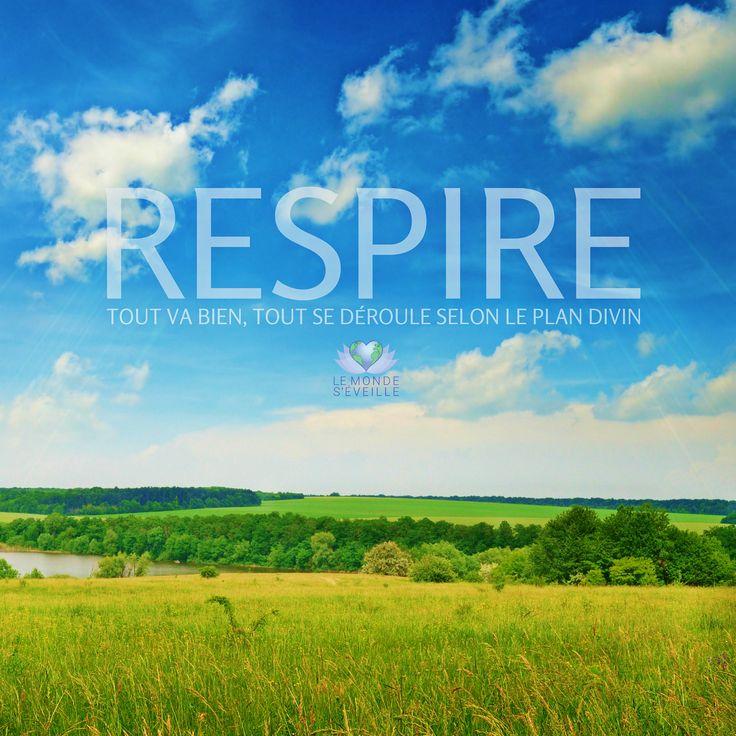 RESPIRE Tout va bien, Tout se déroule selon le plan Divin <3 BREATHE All is well, all happens according to Divine plan <3 www.lemondeseveille.com