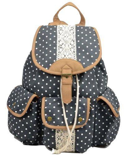 Fresh Polka Dot Canvas Backpacks only $39.99 | Bags, Polka ...