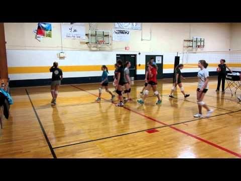 Volleyball Drills: Run Through - YouTube
