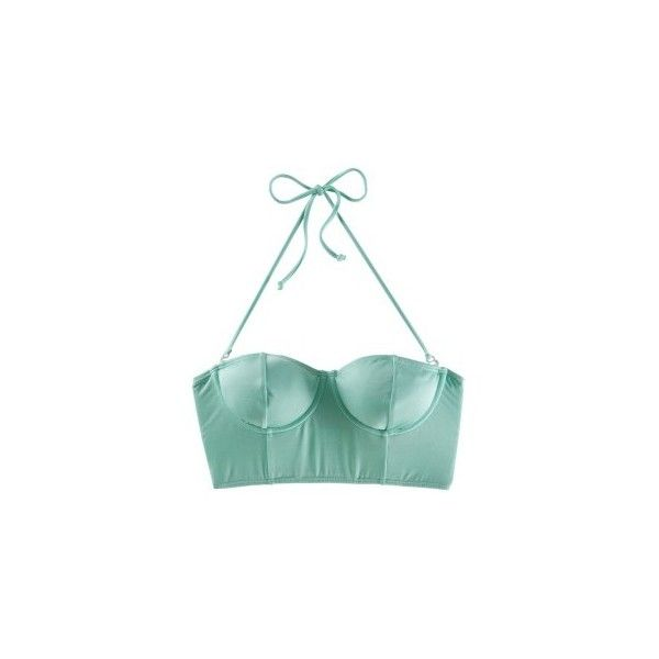 O'Neill Wildflowers Solid Bra Top - Women's - Skate - Clothing - Mint ❤ liked on Polyvore