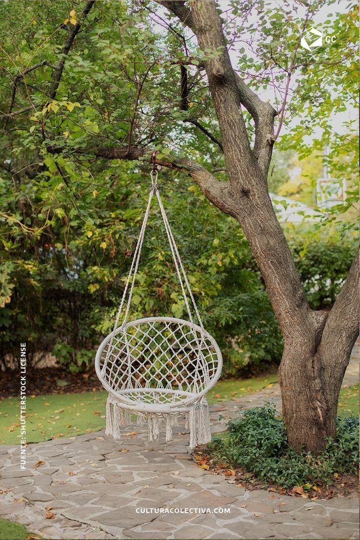 La decoración de nuestro jardín es indispensable porque en él podemos pasar los momentos más divertidos y relajantes en nuestro hogar. Cafe Rico, Hanging Chair, Ideas Para, Macrame, New Homes, Exterior, Furniture, Hollywood, Home Decor