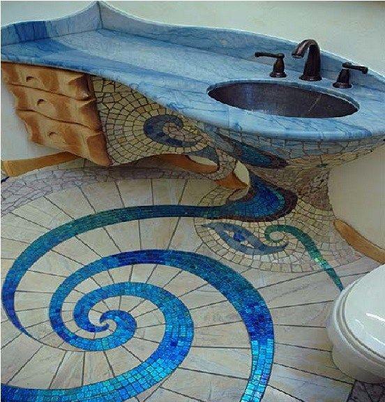Top 10 Creative And Unusual Bathroom Floors Staircases Mosaic