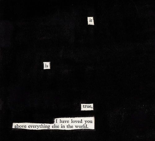 I am a huge fan of blackout poetry, and this is beautiful.