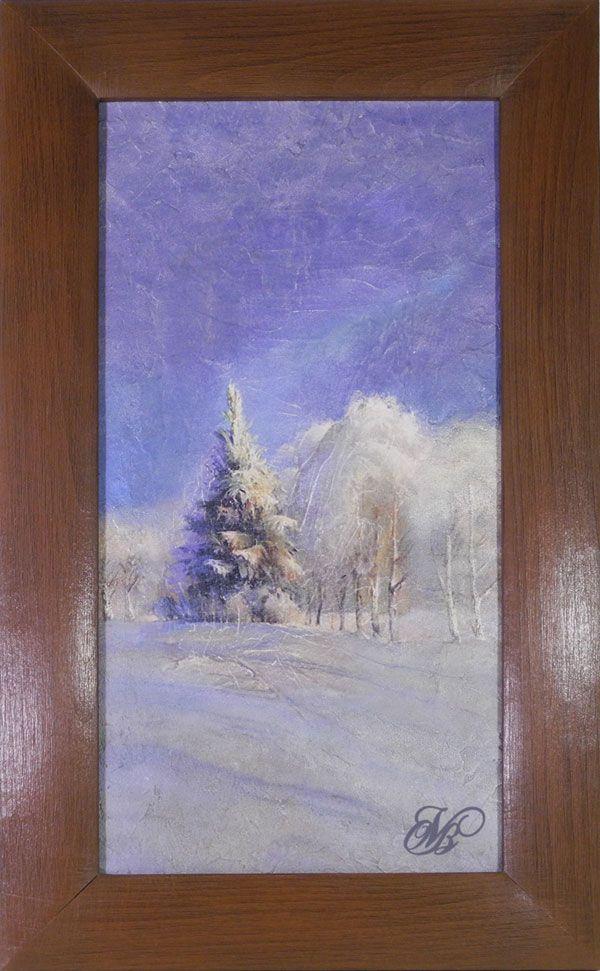 "Картина объемная ""Зимний лес"""
