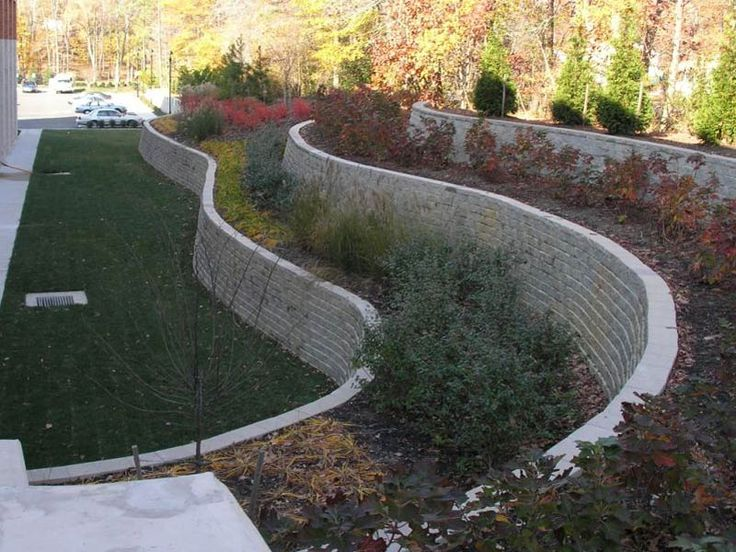 retaining walls on a slope | Bract Retaining Walls and Excavating - Construction and Consulting ...