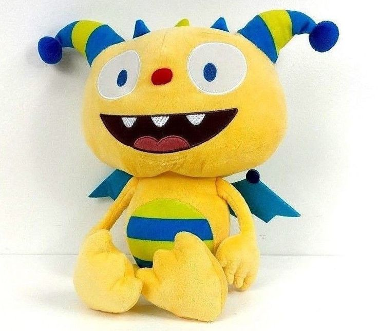 """Disney Jr. Plush HENRY HUGGLEMONSTER Yellow Monster Soft Stuffed Animal Toy 16"""" #Disney"""