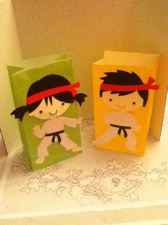 Cute Karate Party Goody Bags by Onecraftyhippo on Etsy, $2.00