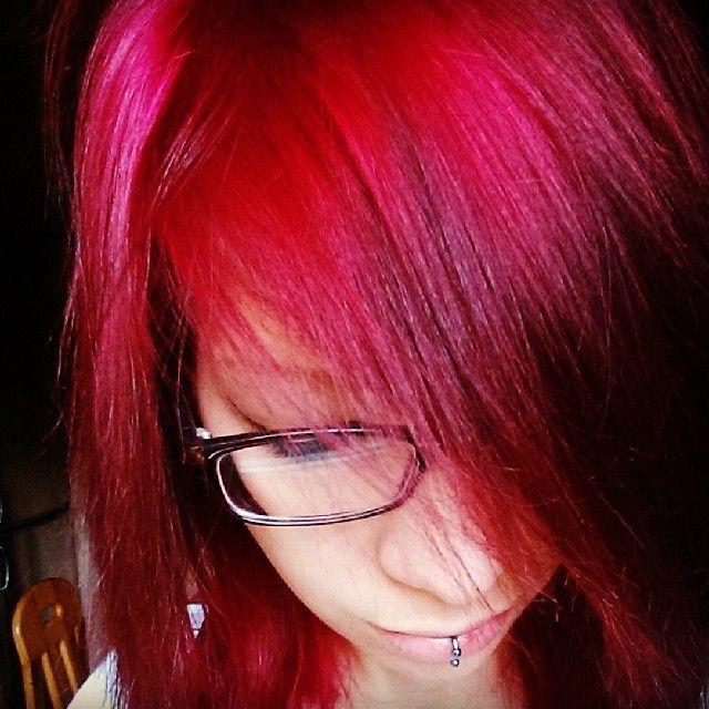 #manicpanic #hellfirered #dyedhairdontcare #redhair