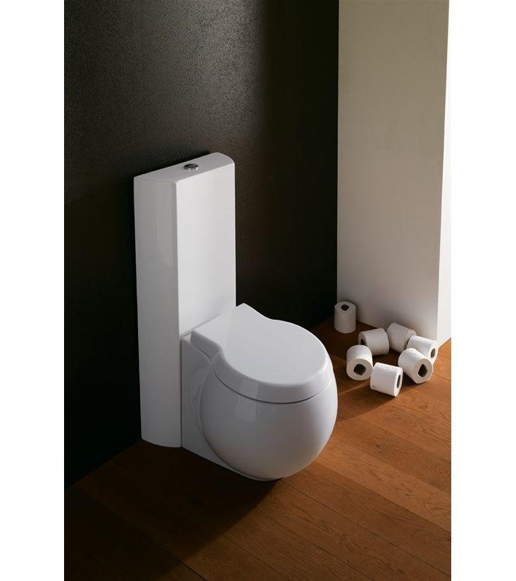 #8401 Scarabeo  Scarabeo Planet Gulvstående toalett 645x360 mm, Hvit