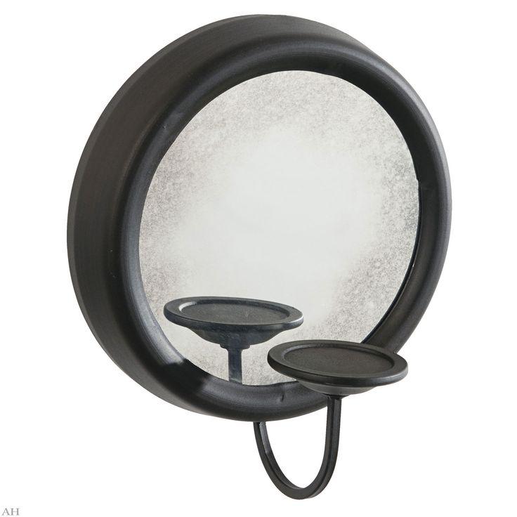 Зеркало с подсвечником D43 см