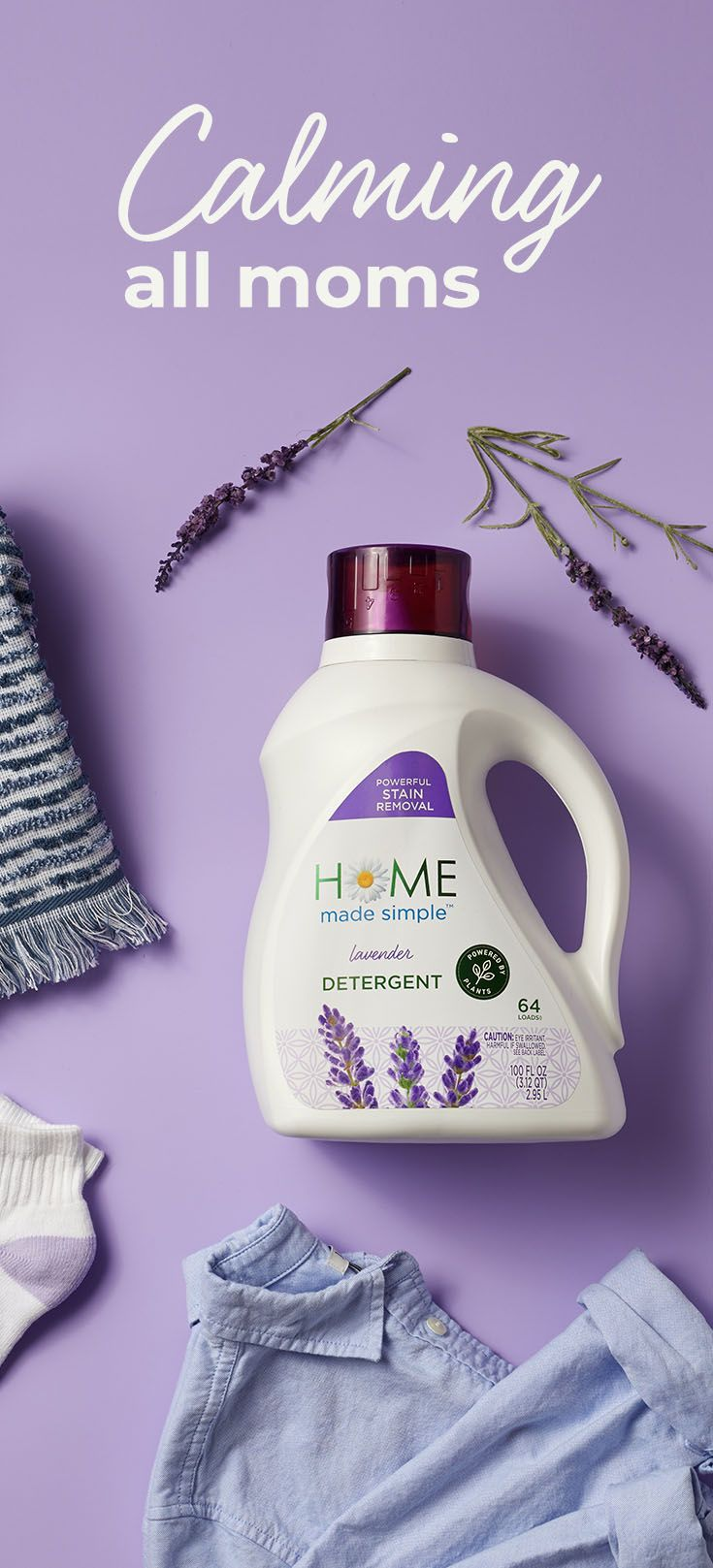 Wash Dry Meditate With Lavender Scented Detergent From Home