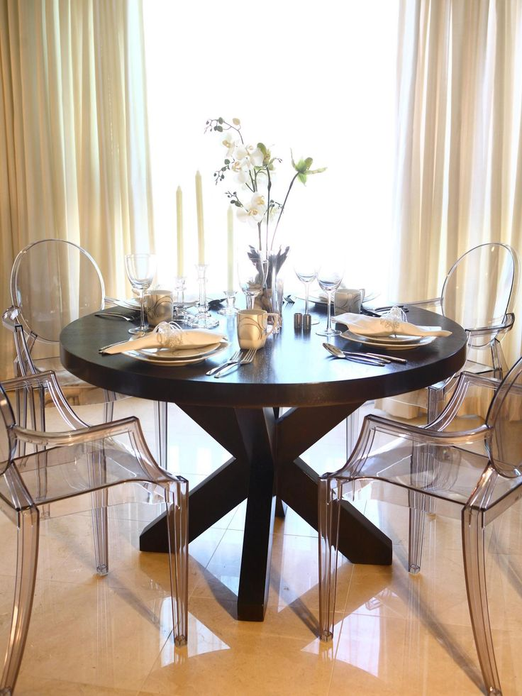 Best 25+ Ghost Chairs Dining Ideas On Pinterest | Ghost Chairs, Clear  Chairs And Grey Seat Pads