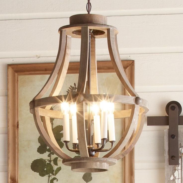 Rustic Wood Basket light from Shades of Light