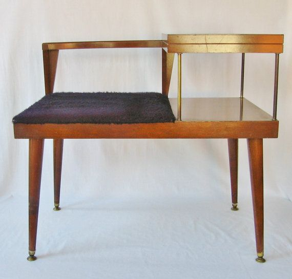 Mid Century Modern Table Telephone Table Bench Danish