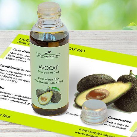 Vertus cosmétiques de l'huile végétale d'Avocat nourrissante pour les peaux sèches et le contour des yeux.
