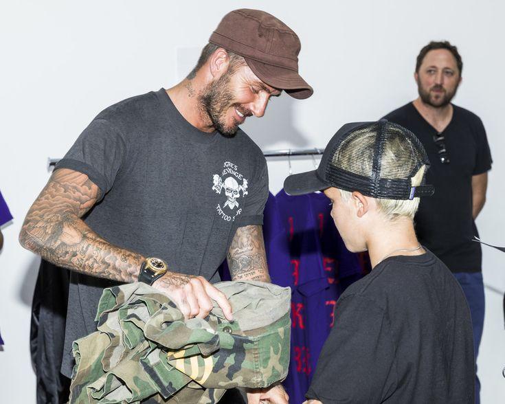 David Beckham Photos - Soccer player David Beckham and son Cruz David Beckham…