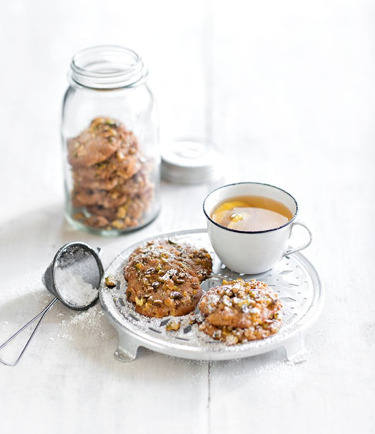 APPLE AND PISTACHIO COOKIES..................................Use those delicious in season apples by whipping up a batch of tasty cookies.