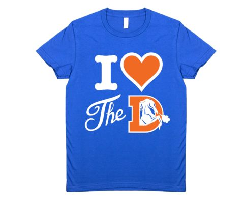 I Heart the Denver Broncos Women's T-Shirt