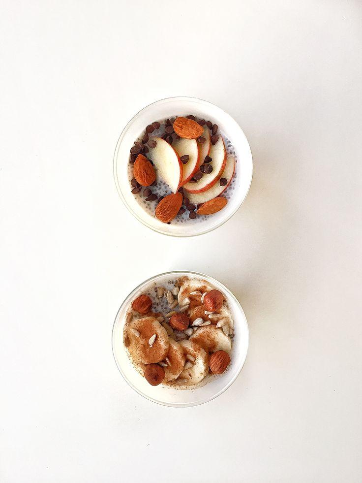 Découvrez nos 2 pudding aux graines de chia à base d'ingrédients d'automne. Une recette idéale pour un petit-déjeuner sport ou une collation avant un entraînement !
