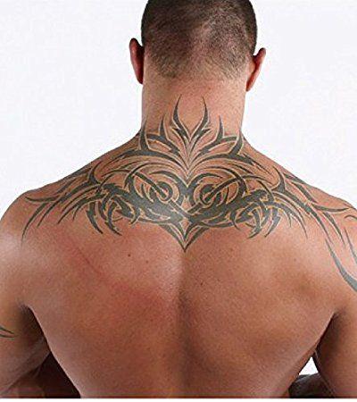Kotbs Super Large Totem Tattoo Sticker Similar Randy Orton Back Tattoo - Big Size Temporary Tattoos for Men 5.9'' 11.8'' Waterproof