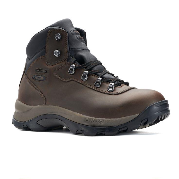 Hi-Tec Peak Men's Waterproof Hiking Boots, Size: medium (10.5), Med Brown