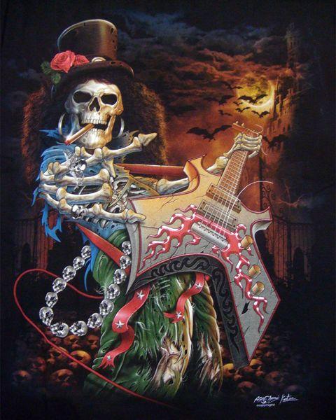 Skull Guitar Wallpaper Hd: Smoking-Skeleton-Guitar-Player-T-shirt-Print.jpg (480×600