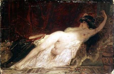 Károly Lotz (1833-1904, German-Hungarian) - Sleeping Bacchante