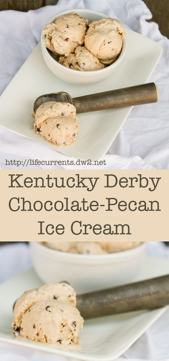 Kentucky Derby Chocolate-Pecan Ice Cream: dairy-free, vegan, gluten-free, no processed sugar, and delicious. Like, make a batch right now and sit down and devour it!