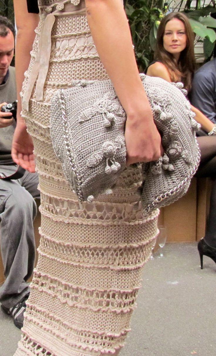 Vanessa Montoro crochet dress & purse